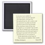 Sonnet # 9 by William Shakespeare Magnets