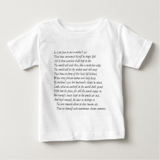 Sonnet # 9 by William Shakespeare Tshirt