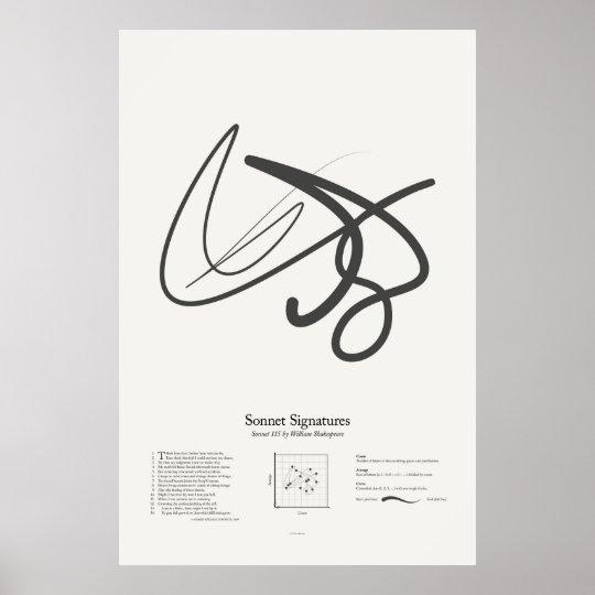 Sonnet Signatures: Sonnet 115 Poster
