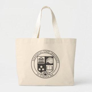 Sonniton State University Seal - B&W Jumbo Tote Bag