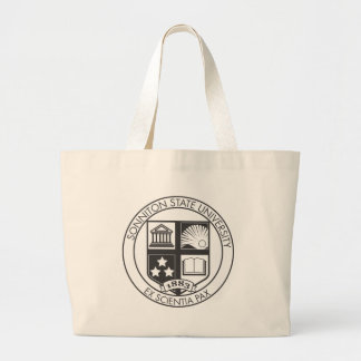 Sonniton State University Seal - B&W Large Tote Bag