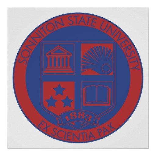 Sonniton State University Seal - Color Posters