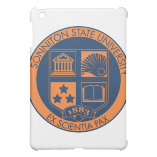 Sonniton State University Seal - Navy Orange iPad Mini Covers