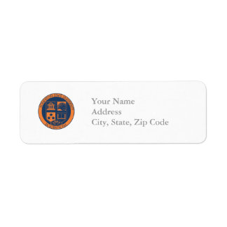 Sonniton State University Seal - Navy/Orange Return Address Label