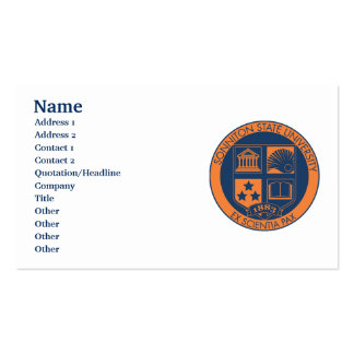 Sonniton State University Seal - Navy/Orange Pack Of Standard Business Cards