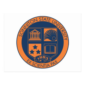Sonniton State University Seal - Navy/Orange Postcard