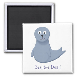 Sonny the Seal Pup Square Magnet