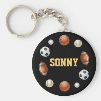 Sonny World of Sports Key Chain - Black