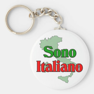 Sono Italiano Basic Round Button Key Ring