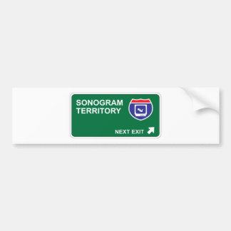 Sonogram Next Exit Bumper Sticker