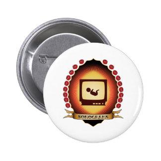 Sonograms Mandorla 6 Cm Round Badge