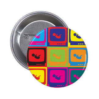 Sonograms Pop Art 6 Cm Round Badge