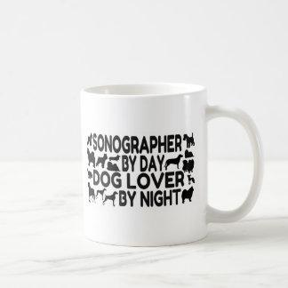 Sonographer Dog Lover Basic White Mug