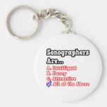 Sonographer Quiz...Joke Basic Round Button Key Ring