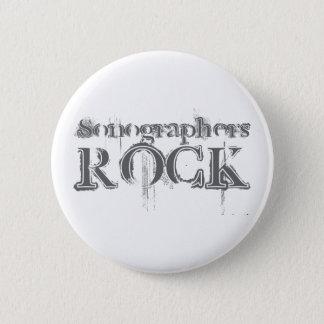 Sonographers Rock 6 Cm Round Badge