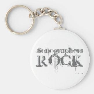Sonographers Rock Basic Round Button Key Ring
