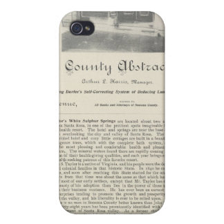 Sonoma County Abstract Bureau, California iPhone 4 Covers