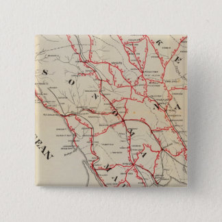 Sonoma, Marin, Lake, and Napa Counties 15 Cm Square Badge