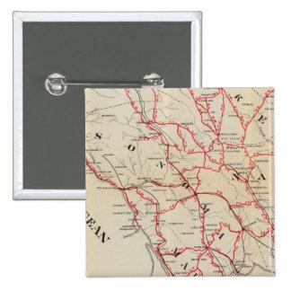 Sonoma, Marin, Lake, and Napa Counties 15 Cm Square Badge