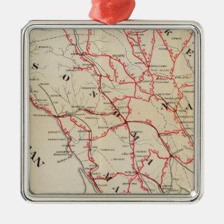 Sonoma, Marin, Lake, and Napa Counties Christmas Ornament