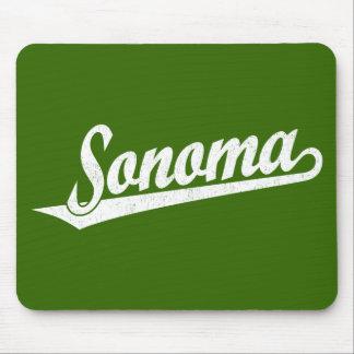 Sonoma script logo in white distressed mousepad