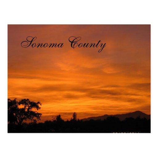 Sonoma Sunset 3 Postcards
