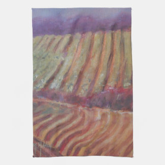 Sonoma Vineyards California vines Tea Towel