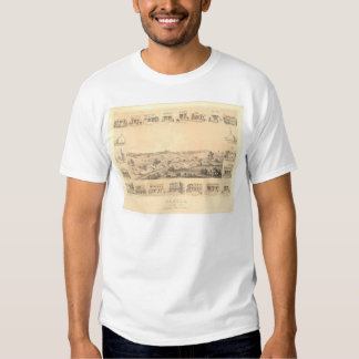 Sonora, CA. Panoramic Map 1854 (1647A) - Restored Shirt