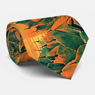 Sonoran Cactus in Orange Men's Tie