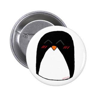 Sonrojado penguin 6 cm round badge