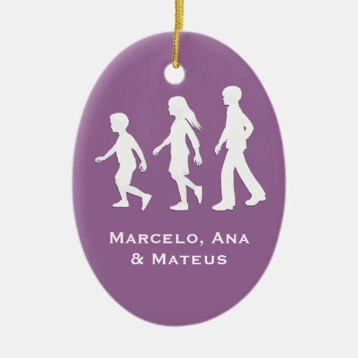 Sons and Daughter: Paper Cut-Out Style Siblings Ornament