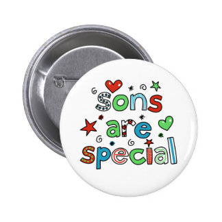 Sons are Special 6 Cm Round Badge