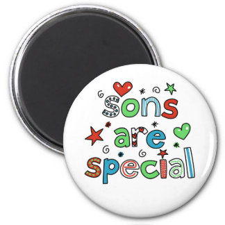 Sons are Special 6 Cm Round Magnet
