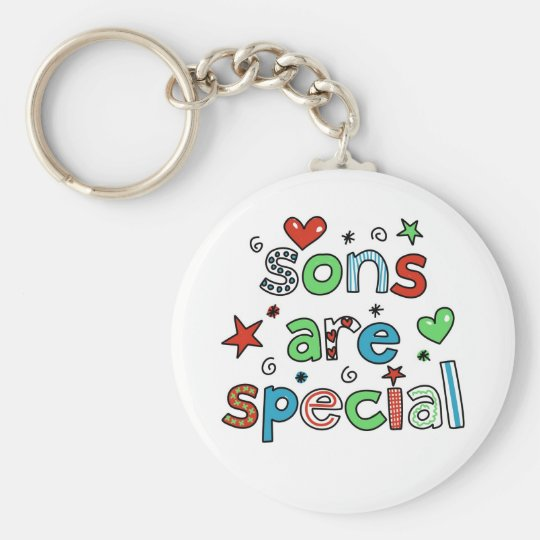 Sons are Special Basic Round Button Key Ring