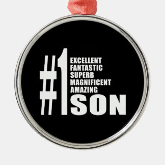 Sons Birthdays Gifts : Number One Son Christmas Ornament