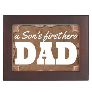 Son's Hero Dad Keepsake Box