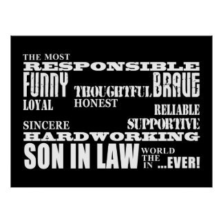 Sons in Law Weddings Birthdays Parties : Qualities Poster