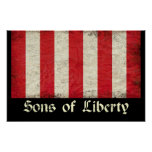 Sons of Liberty Flag Poster