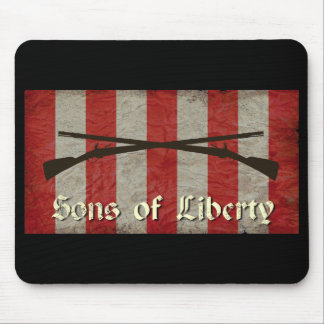 Sons of Liberty Flag with Two Muskets Mouse Mat