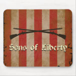 Sons of Liberty Flag with Two Muskets Mousepad