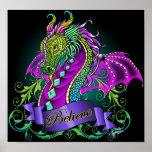 """Sonya"" Rainbow Believe Dragon Art Poster"