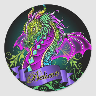 """Sonya"" Rainbow Believe Dragon Art Stickers"