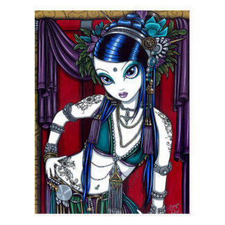 """Sonya"" Tribal Fusion Belly Dancer Postcard"