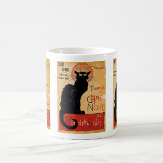 """Soon and the Black Cat Tour by Rodolphe Salis"" Basic White Mug"
