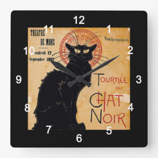 """Soon and the Black Cat Tour by Rodolphe Salis"" Clocks"