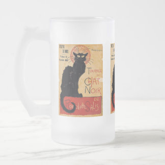 """Soon and the Black Cat Tour by Rodolphe Salis"" Frosted Glass Mug"
