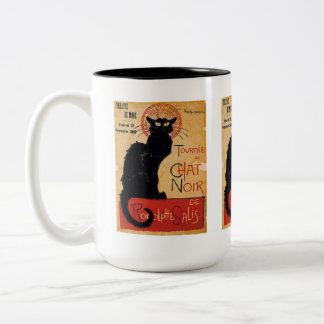 """""""Soon and the Black Cat Tour by Rodolphe Salis"""" Two-Tone Mug"""