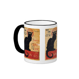 """""""Soon and the Black Cat Tour by Rodolphe Salis"""" Ringer Mug"""