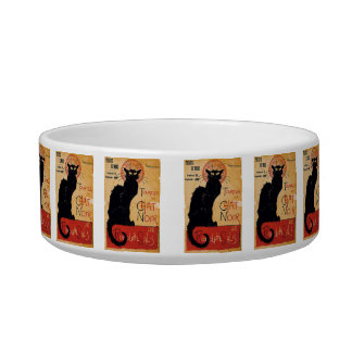 """Soon and the Black Cat Tour by Rodolphe Salis"" Pet Bowl"