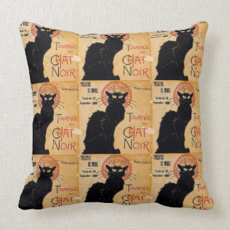 """Soon and the Black Cat Tour by Rodolphe Salis"" Throw Cushions"